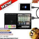 Radio F&t Recargable Am Fm Usb Bluetooth - Envío Gratis