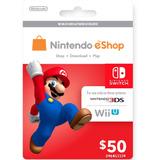 Códigos Nintendo E-shop 50 Usd - 3ds- Switch - Wii-u