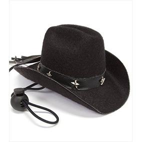 Sombrero De Vaquero Para Perros - Negro, 5 \brim, 2-1 / 2\