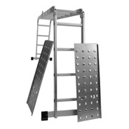 Escalera Aluminio Articulada 4x4 Con Chapones 4.45m 16 Esc.