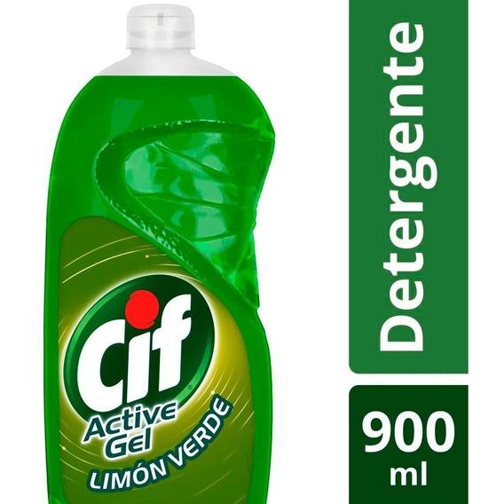 Detergente Cif Active Gel Extra Limon Verde X 900ml