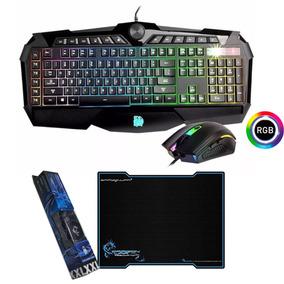 Kit Gamer Fornite Teclado Y Mouse 3200dpi Rgb + Pad Grande