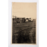 Antigua Fotografia Avion Y Personajes Argentina Circa 1920