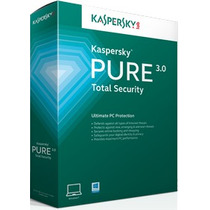 Kaspersky Pure Total Security 2015 - 3 Pcs 1 Ano (365 Dias)