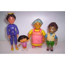 Dora La Exploradora Figuras De Familia Mochila Diego Mattel