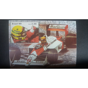 Selo Brasil 1989 Ayrton Senna Campeão Mundial De Pilotos