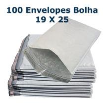 Envelope Plástico Saco Segurança Lacre Bolha 19x25 100 Un