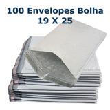 Envelope Plástico Saco Bolha Lacre De Segurança 19x25 100 Un
