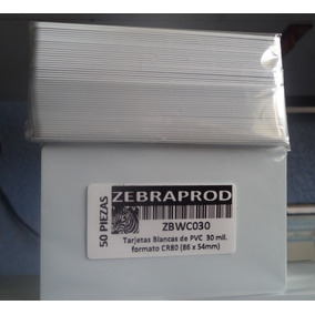 Tarjeta Pvc Credencial , 30mil Formato Cr80 Zebra Comp