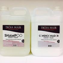 Shampoo E Condicionador Coco+açai+morango Troia Hair 5litros