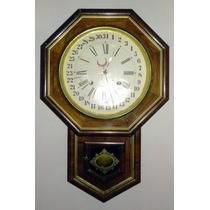 Hermoso Reloj De Pared Antiguo