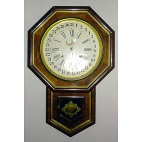 Hermoso Reloj De Pared Antiguo