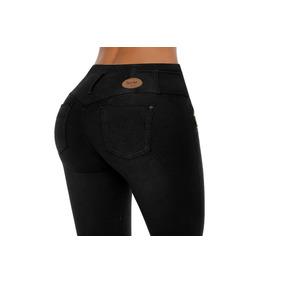 Jeans Colombiano Levanta Cola Negro C/cierre / Grupoborder