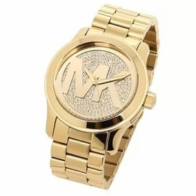 Relogio Michael Kors Dourado Grande - Relógios De Pulso no Mercado ... 8be2e05b2c