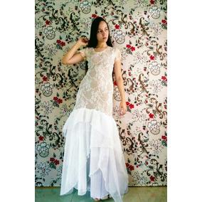 Vestido De Noiva Sereia Nude Em Renda Festa Mirian Buss