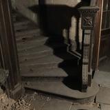 Escalera De Interior En Madera De Roble Antigua Con Arranque