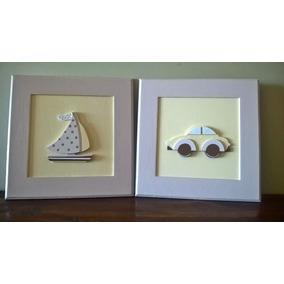 Cuadros En Relieve-apliques-cuadritos Infantiles Pintados