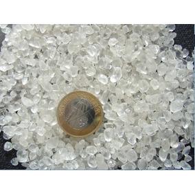 Cascalho Cristal Quartzo Semi-transparente Rolado Peq. 1/2kg