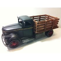 Miniatura Metal Caminhão Caçamba Carroceria Retro Vintage