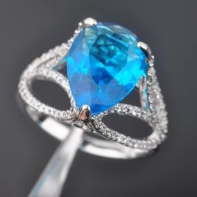 Noble Cielo Azul Topacio Joyas Para Mujeres Joyería... (8)