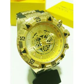 2627af1370b Relogio Invicta Dourado Pulseira Branca Masculino - Relógio Invicta ...