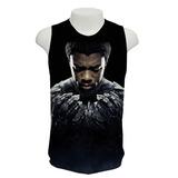 Camiseta Filme Pantera Negra 02 - Regata Frete Grátis