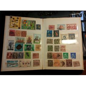 Antiga E Rara Coleção De 348 Selos Diversos Países