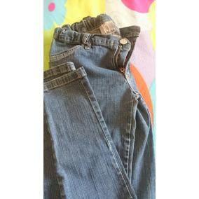 Pantalon Jeans Con Cierre En La Pierna T 10