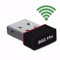 Mini Adaptador Receptor Wireless Usb Mini Wi-fi Mano 150mbps