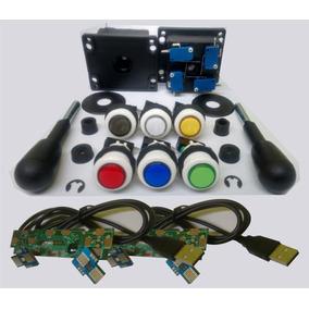 Kit 20 Botões Acrílico + Micros + 2 Controles + 2 Placas Usb