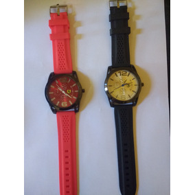 43154136395 Relógio Ferrari Em Aço Pulseira Silicone - Relógios De Pulso no ...