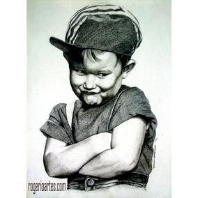 Retratos Desenho Lapis Grafite Ou Pintura Tela Profissional!