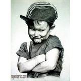Retratos Desenho Lapis Grafite Ou Pintura Foto Encomenda