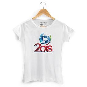 Camiseta Feminina Russia Copa Do Mundo 2018.