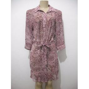 Vestido Rosa Oncinha Transparente Tam M Makenji Fit