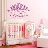 Bondai Vinilos Decorativos Infantil Corona Princesa Y Nombre