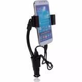 Suporte Veicular Celular Com Carregador Automotivo 4 5 5s 5c