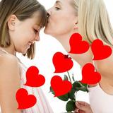 Adesivo 42 Corações Em Vinil P/ Dia Das Mães Pais Namorados
