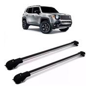 Travessa Bagageiro Rack Jeep Renegade 2015 A 2019 Prata Slim