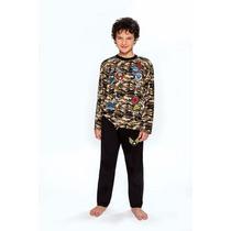 Pijama Niño Invierno Camuflado De Jersey Wol Meli 443