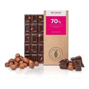 Tableta Chocolate Dr Cacao 70% Avellanas Enteras X70grs Envi