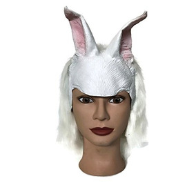 Hms Anime Rabbit Headpiece Parte Delantera Del Látex Con La