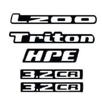 Kit Adesivos Resinados L200 Triton 1 Hpe 2 3.2cr
