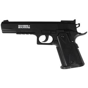 Pistola A Co2 Swiss Arms P1911 Con Garrafa Y Balines!