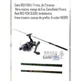 Caña De Pescar De 2 Trs 2.70 Funda Reel+caja De Pesca Compl.