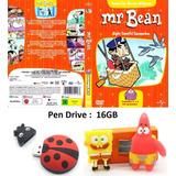 Pen Drive/masha E O Urso/mr Bean/show Da Luna E Outros