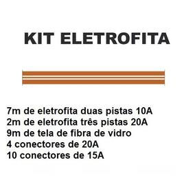 Kit Eletrofita 7m (duas Pistas 10 A) + 2m (três Pistas 20 A)
