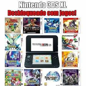 Nintendo 3ds Xl Desbloqueado 4gb Seminovo Destravado