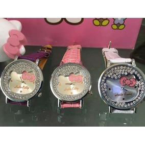Reloj Hello Kitty Dama Silueta De Cristales #7