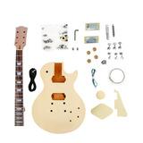 Kit De Guitarra Desmontada Les Paul Hh Em Mogno Sngk004